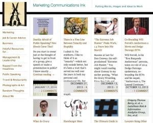 MarketingCommunicationsInk.com blog